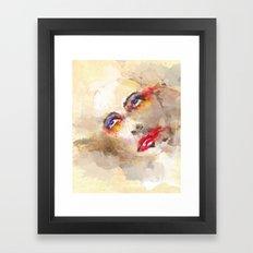 sad crown Framed Art Print