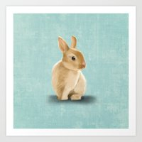 Portrait of a little bunny Art Print