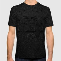 UFOs For Africa Mens Fitted Tee Tri-Black SMALL