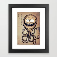 Kaiju parchment 2 Framed Art Print