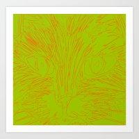 Orange Kitty 2 Art Print