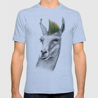 Llamahawk Mens Fitted Tee Athletic Blue SMALL