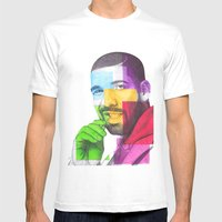 Drake Hotline  Mens Fitted Tee White SMALL