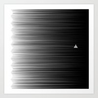 Escaping Triangle Art Print