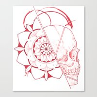 Mandala Skull Canvas Print