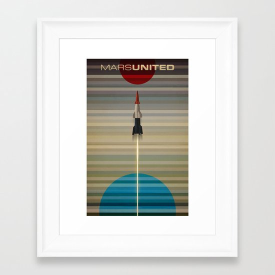 MarsUnited Liftoff Framed Art Print