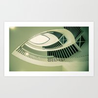Teardrop Stairs Art Print