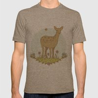 Little Deer Mens Fitted Tee Tri-Coffee SMALL