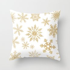 Snowflake Pattern 01 Throw Pillow