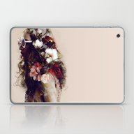 The Girl With The Flower… Laptop & iPad Skin