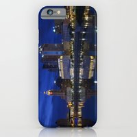 iPhone & iPod Case featuring City reflections Columbus Ohio by Wood-n-Images