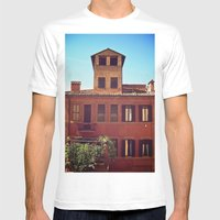 Home Is Where The Sun Is Mens Fitted Tee White SMALL
