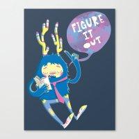 Figure It Out Canvas Print