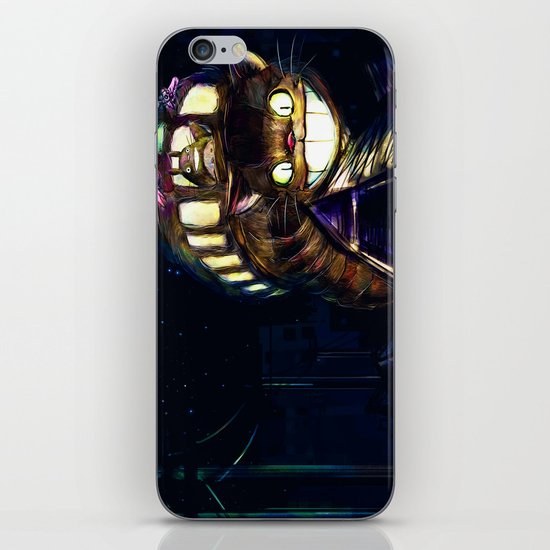 Cat Bus is In Your Town! Miyazaki Tribute Digital Fan Painting iPhone & iPod Skin