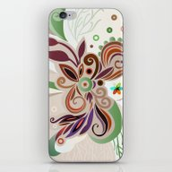 iPhone & iPod Skin featuring Floral Curves by /CAM