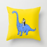 Dinosaur B Throw Pillow