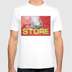 re-store Mens Fitted Tee SMALL White