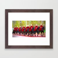 The Queens Life Guards O… Framed Art Print