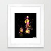 Vodka Illustration Framed Art Print