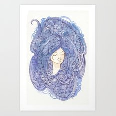 Drowning Girl Art Print
