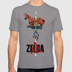 Zelda/Akira Mens Fitted Tee Tri-Grey SMALL