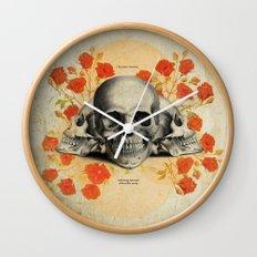 I Became Insane... Edgar Allan Poe Skull Print Wall Clock