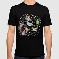Pattern With Beautiful B… Mens Fitted Tee Black SMALL