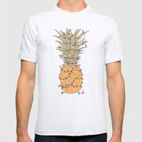 Tropical Lights Mens Fitted Tee Ash Grey SMALL