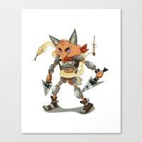 Battle Fox Canvas Print