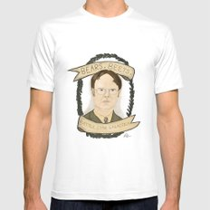 Dwight Schrute SMALL Mens Fitted Tee White