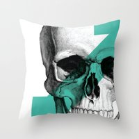 Skull7 Throw Pillow