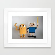 Wooden Toy Finn & Jake Framed Art Print