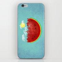 Watermelon City iPhone & iPod Skin