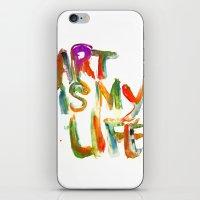 Art is my life iPhone & iPod Skin