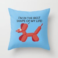 Inflated Ego Throw Pillow