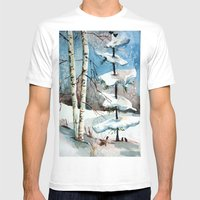 Carol of the Birds Mens Fitted Tee White SMALL