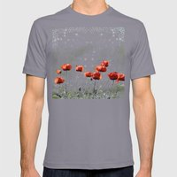 POPPY  Mens Fitted Tee Slate SMALL