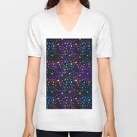 Midnight Rainbow Glitter Unisex V-Neck