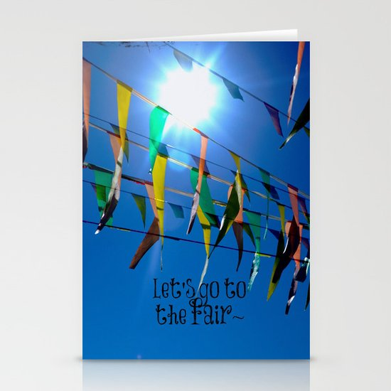Let's go to the fair Stationery Card