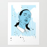 Woman in Blue Art Print