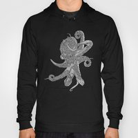 Octopus Bloom black and white Hoody