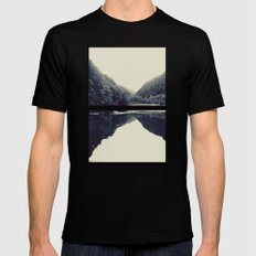 The Lake SMALL Black Mens Fitted Tee
