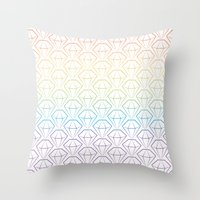 Rainbow Emeralds Pattern Throw Pillow