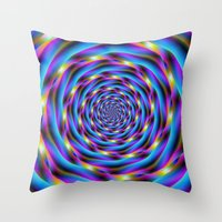 Vortex In Blue And Viole… Throw Pillow