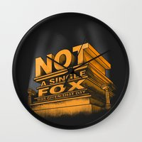 Not A Single Fox Was Giv… Wall Clock