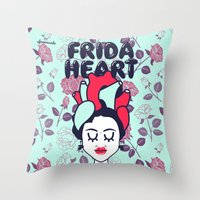 Frida Heart Throw Pillow
