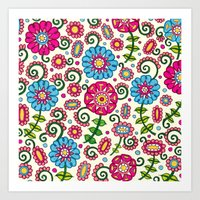 Cheerful Garden Art Print