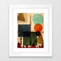 Implied Geometry Framed Art Print