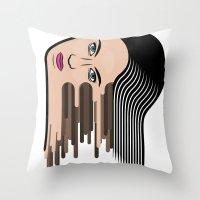 Flows girl Throw Pillow