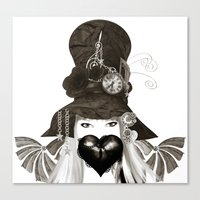 Holly's Hat Canvas Print